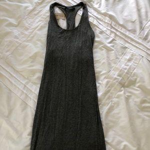 Solemio Grey Mid Length Flowy Dress